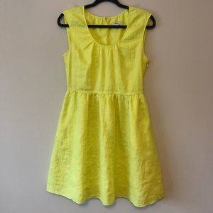 J.Crew Linen Neon Yellow Dress